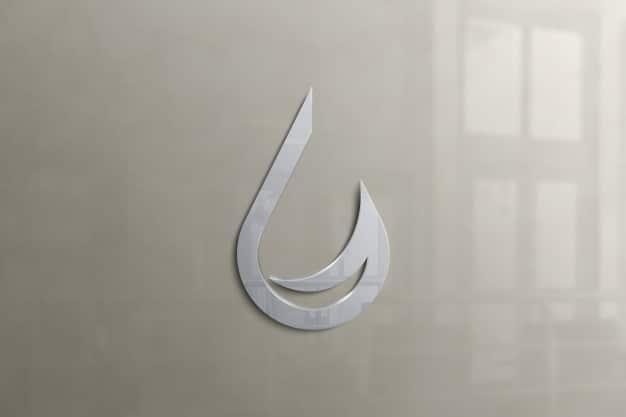 Wall logo mockup Premium Psd