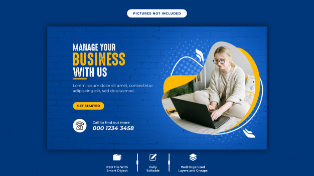 Banner template for digital business marketing on social media Premium Psd