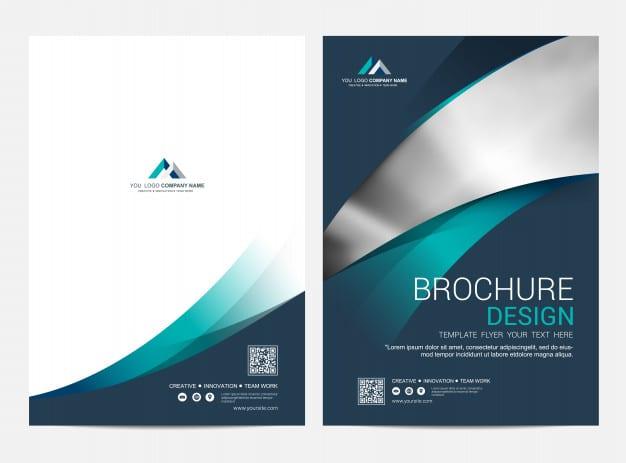 Brochure layout template, cover design Premium Vector