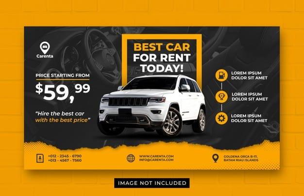 Car rent promotion web banner template Premium Psd