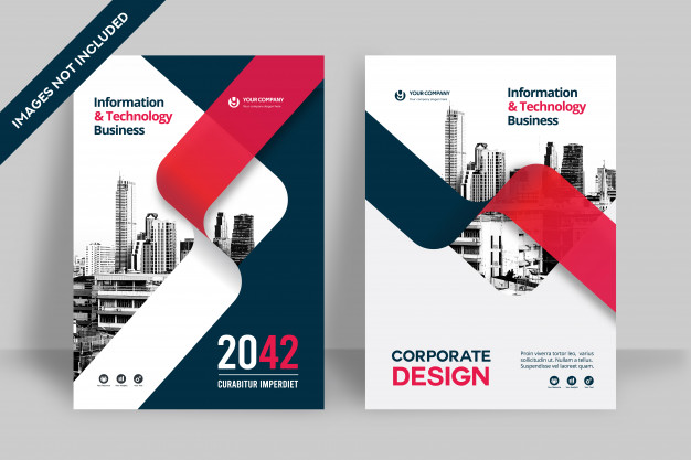 City background business book cover design template Premium Vector