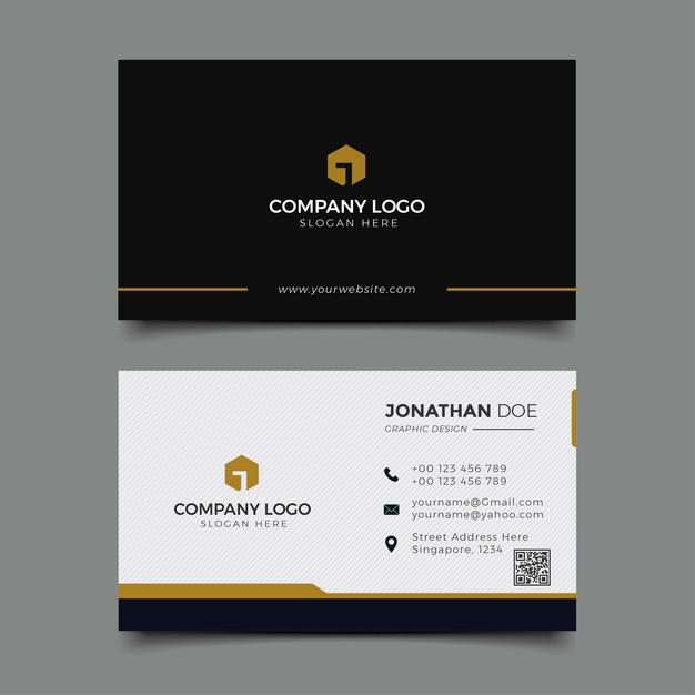 Creative business card set Premium Vector