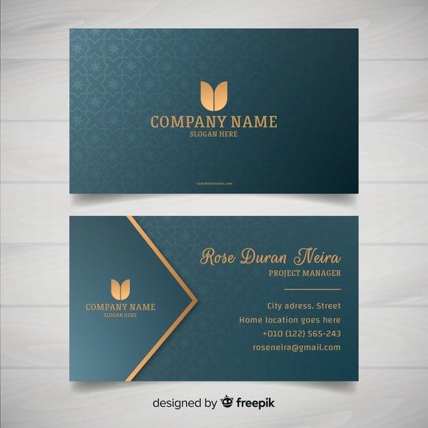 Elegant style business card template Premium Vector