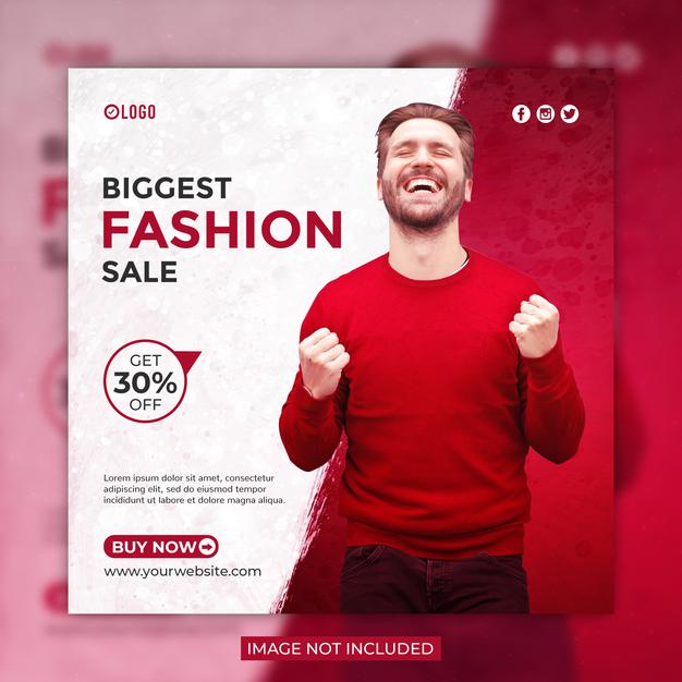 Fashion sale social media post or instagram banner template Premium Psd