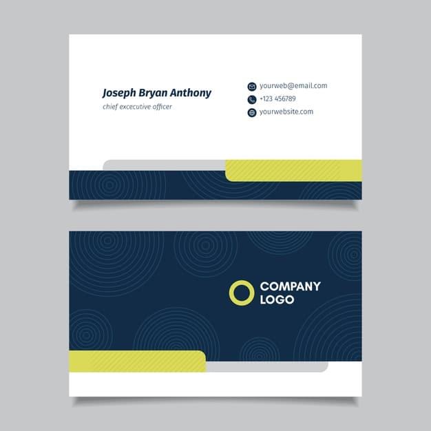 Minimal business card template Premium Vector