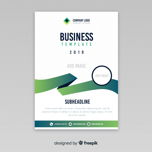 Modern business flyer with abstract design Premium Vector