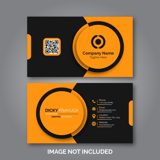 Modern professional business card Premium Vector