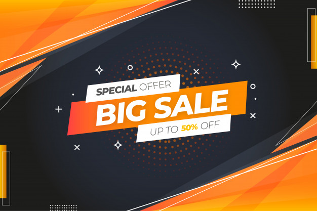 Special offer big sale background Free Vector