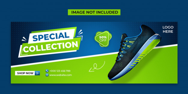 Special shoes social media and facebook cover post template Premium Psd