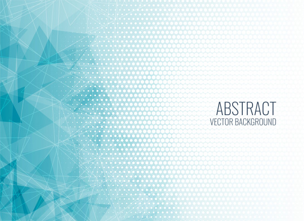 Abstract blue geometric shapes background Vector