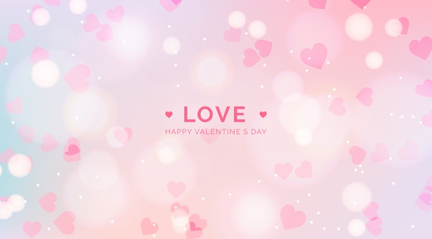 Blurred valentine's day background Premium Vector