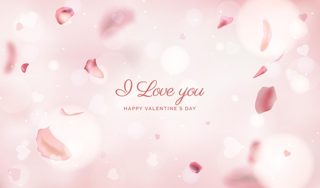 Blurred valentines day background Vector