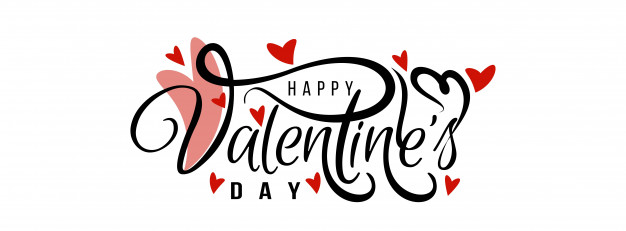 Happy valentine's day elegant love banner template Vector