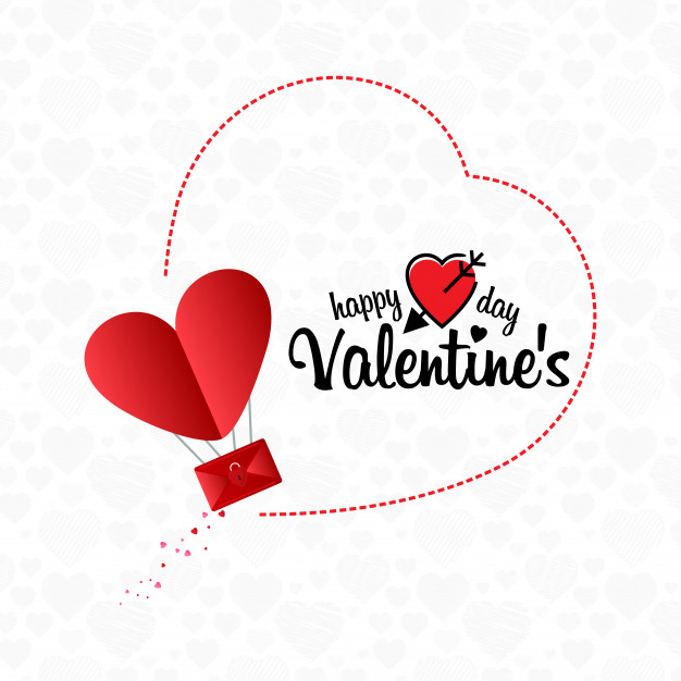 Happy valentine's day email concept background Vector
