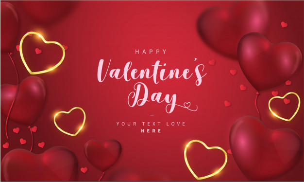 Lovely happy valentine's day background with hearts Vector