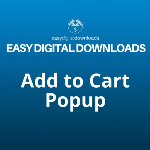 Easy Digital Downloads Add to Cart Popup