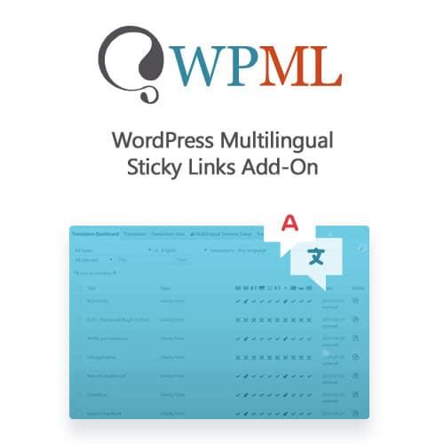 WordPress Multilingual Sticky Links