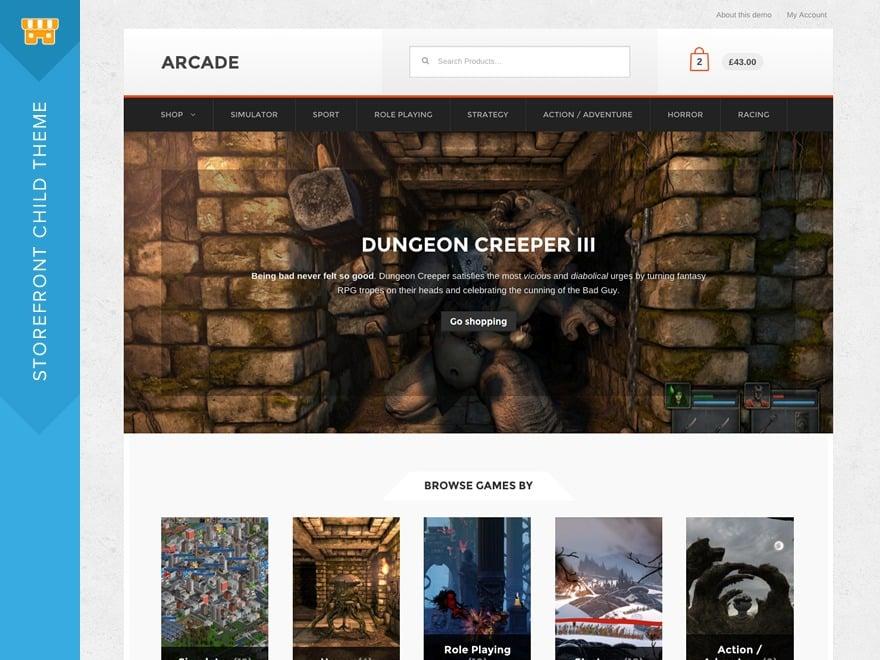 Arcade WordPress store theme