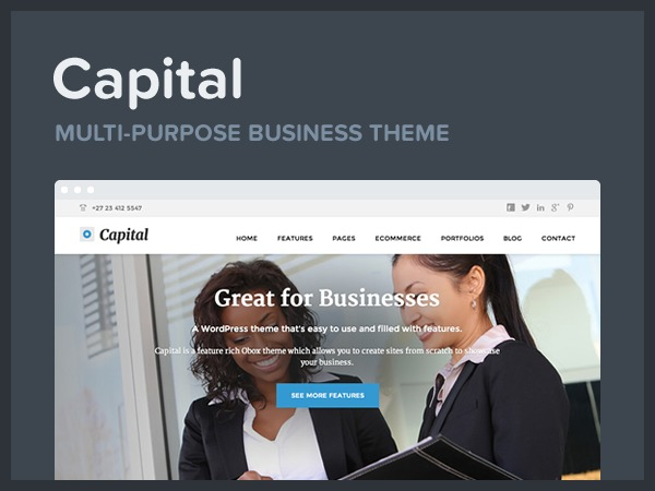 Capital WordPress ecommerce template