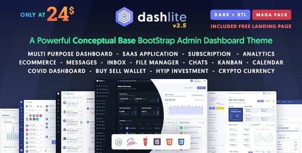 DashLite v2.4.0 - Bootstrap Responsive Admin Panel Template