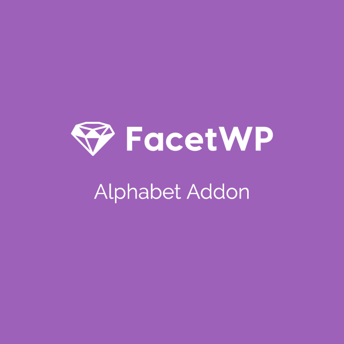 FacetWP Alphabetical Addon 1.3.3