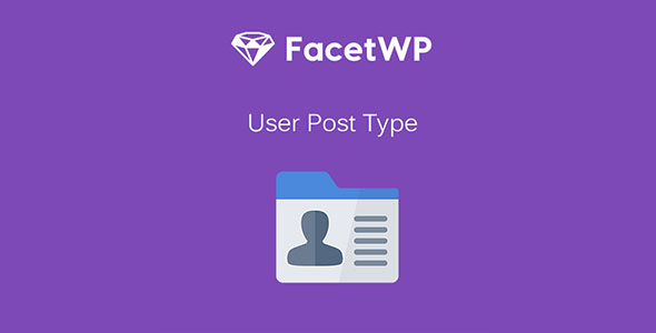 FacetWP User Post Type