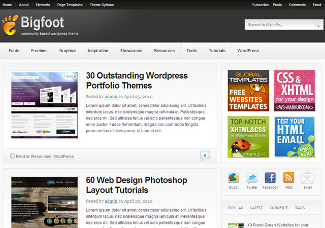 Theme Junkie Bigfoot WordPress Theme 1.0.8