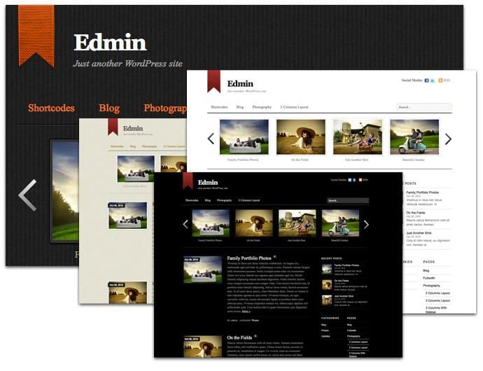 WordPress theme Edmin