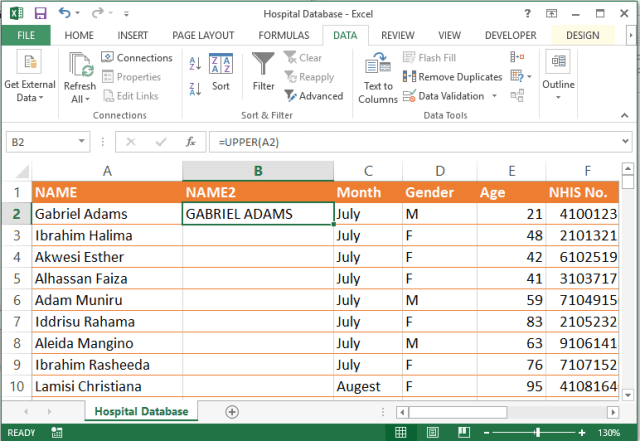 Capitalize Excel