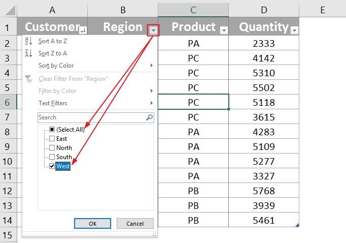 Excel Filter