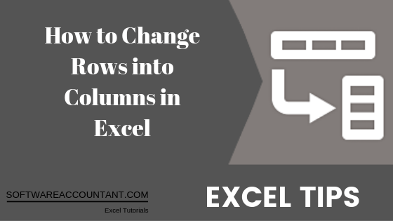 Excel Rows to Columns transpose