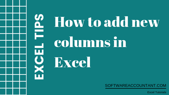 How to add a column in Excel