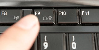 press the F9 function key