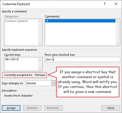 Customoze Keyboard Shortcut