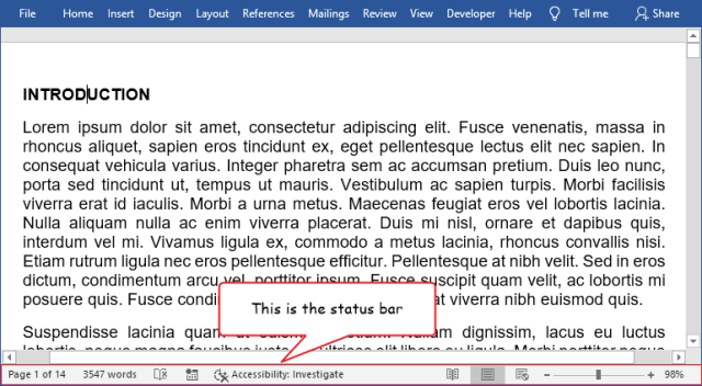Count lines in Word