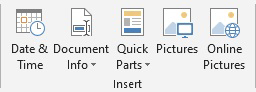 Add dates or picutures to the header in Word