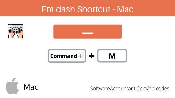 em dash shortcut on Mac
