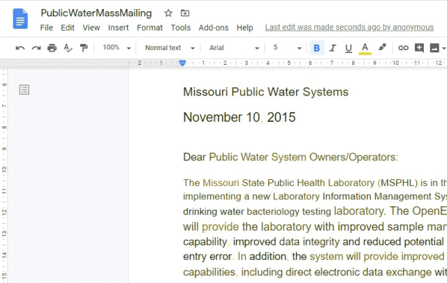 PDF successfully converted to Google Docs