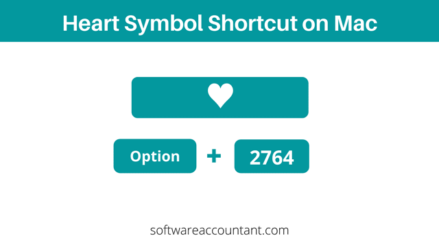 Heart Symbol shortcut