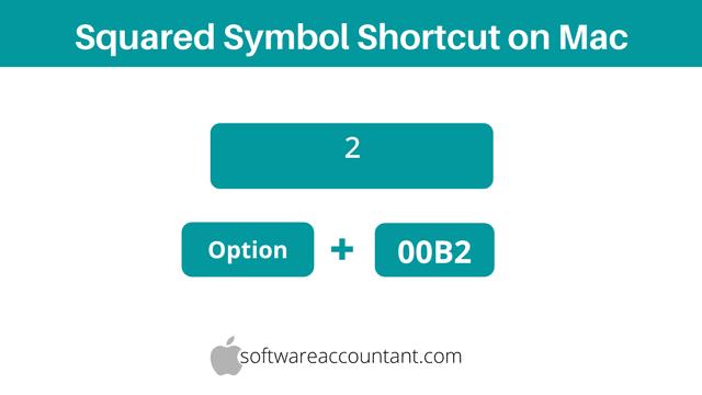 2 squared symbol alt code for Mac