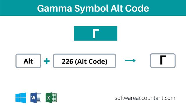 Gamma symbol alt code shortcut