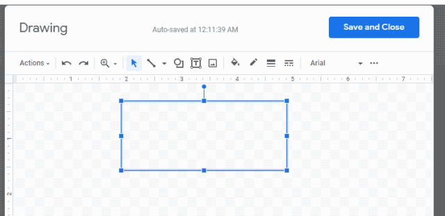 Drawing Text Box in Google Docs