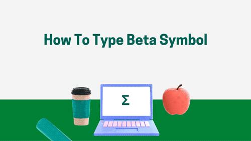 How to type beta symbol
