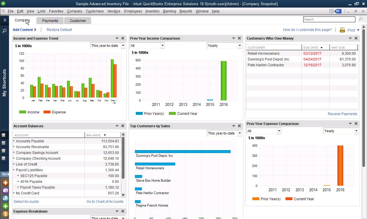 Quickbooks Enterprise 2018 Reviews Pricing Screenshots