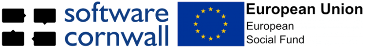 Software Cornwall European Social Fund logos