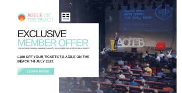 Software Cornwall members gain an exclusive £100 discount to Agile on the Beach 2021