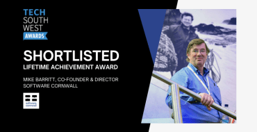 Mike Barritt, Director & Co-Founder of Software Cornwall shortlisted for a Lifetime Achievement Award from Tech South West