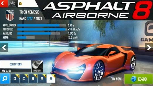 Asphalt 8 Airborne v5.4.0o MOD APK [Unlimited Money]