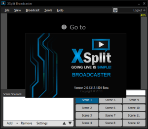 Xsplit broadcaster black screen