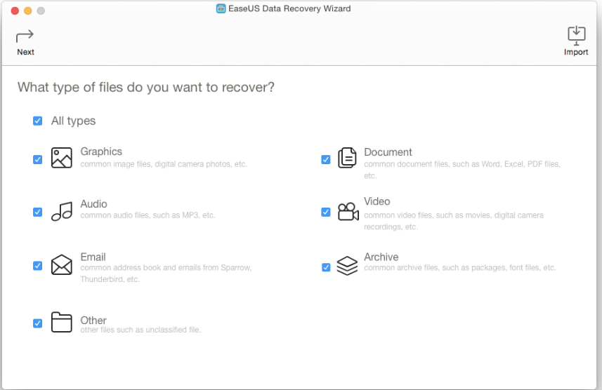 EaseUS Data Recovery Wizard 10.9 macOS Crack